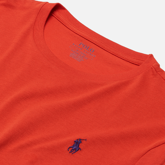 Мужская футболка Polo Ralph Lauren Classic Crew Neck 26/1 Jersey Orangey Red