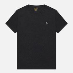 Мужская футболка Polo Ralph Lauren Classic Crew Neck 26/1 Jersey Black Marl Heather/White
