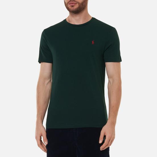 Мужская футболка Polo Ralph Lauren Classic Crew Neck 26/1 Jersey College Green/Red