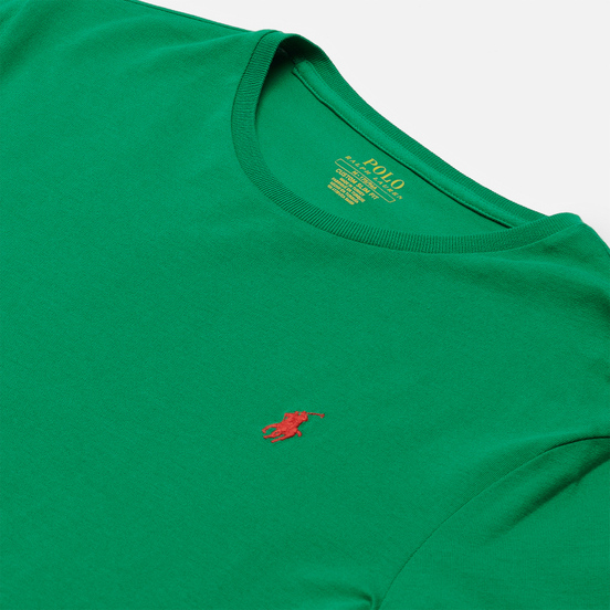 Мужская футболка Polo Ralph Lauren Classic Crew Neck 26/1 Jersey Scarab Green/Red