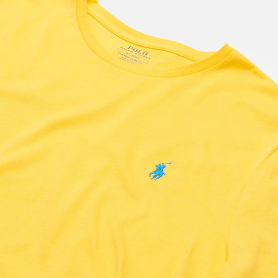 Мужская футболка Polo Ralph Lauren Classic Crew Neck 26/1 Jersey Yellowfin/Blue