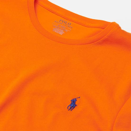 Мужская футболка Polo Ralph Lauren Classic Crew Neck 26/1 Jersey Sailing Orange/Navy