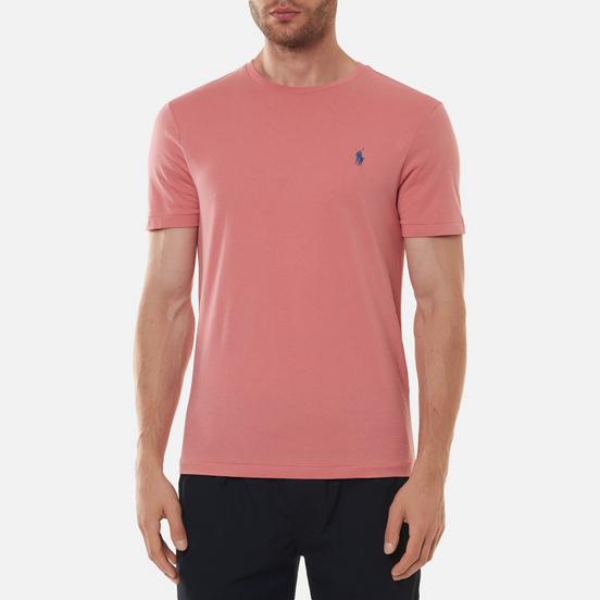 Мужская футболка Polo Ralph Lauren Classic Crew Neck 26/1 Jersey Desert Rose/Blue