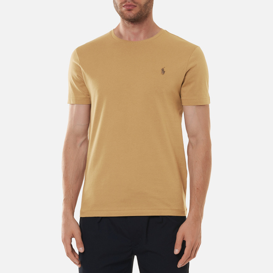 Мужская футболка Polo Ralph Lauren Classic Crew Neck 26/1 Jersey Luxury Tan/Brown