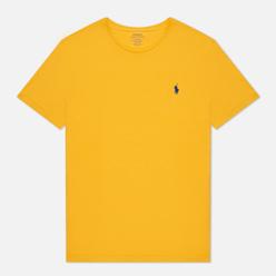 Мужская футболка Polo Ralph Lauren Classic Crew Neck 26/1 Jersey Gold Bugle/Navy