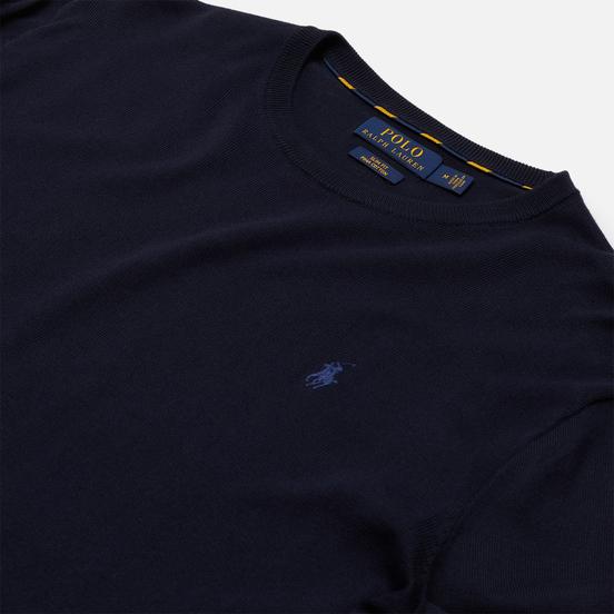 Мужской свитер Polo Ralph Lauren Embroidered Pony Crew Neck Hunter Navy