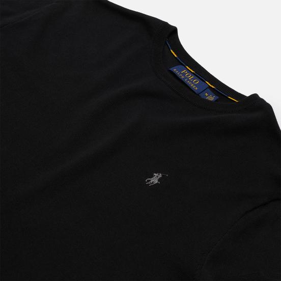 Мужской свитер Polo Ralph Lauren Embroidered Pony Crew Neck Black