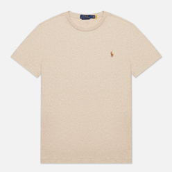 Мужская футболка Polo Ralph Lauren Custom Slim Fit Interlock Expedition Dune Heather