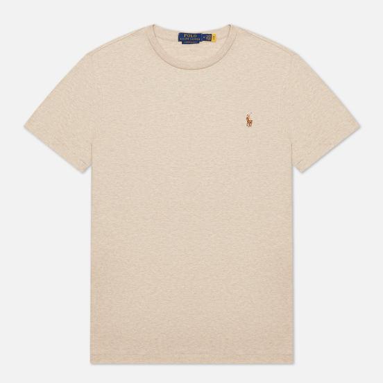 Мужская футболка Polo Ralph Lauren Custom Slim Fit Interlock Expedition Dune Heather