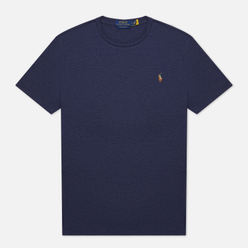 Мужская футболка Polo Ralph Lauren Custom Slim Fit Interlock Spring Navy Heather