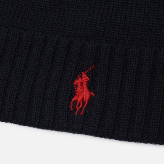 Шапка Polo Ralph Lauren Merino Wool Embroidered Polo Pony Black