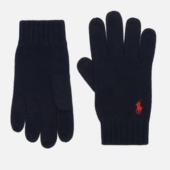 Перчатки Polo Ralph Lauren Merino Wool Embroidered Polo Pony Black