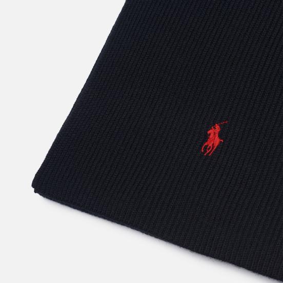 Шарф Polo Ralph Lauren Merino Wool Embroidered Polo Pony Black