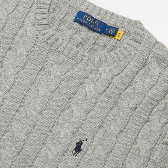 Мужской свитер Polo Ralph Lauren Driver Cotton Cable Fawn Grey Heather