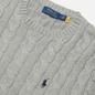 Мужской свитер Polo Ralph Lauren Driver Cotton Cable Fawn Grey Heather фото - 1