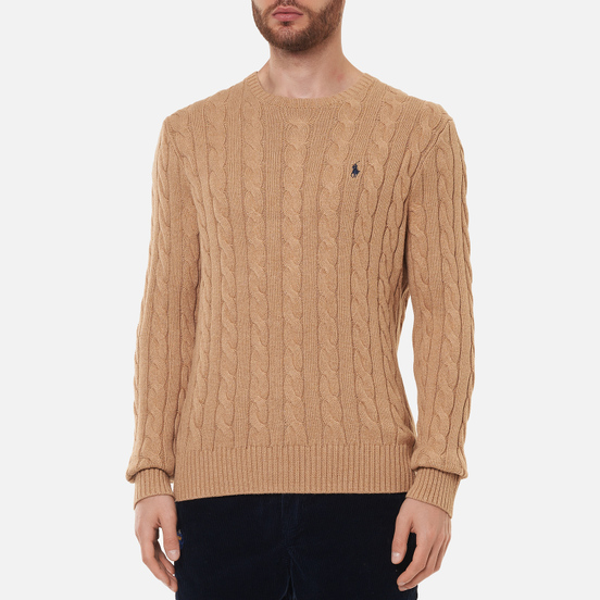 Мужской свитер Polo Ralph Lauren Driver Cotton Cable Camel Melange