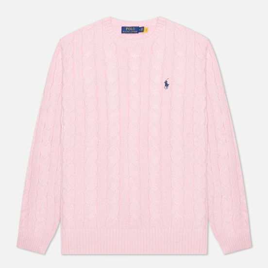 Мужской свитер Polo Ralph Lauren Driver Cotton Cable Carmel Pink