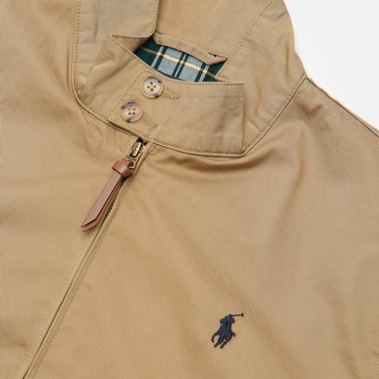 Мужская куртка харрингтон Polo Ralph Lauren Twill Mockneck City Baracuda Luxury Tan