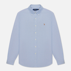 Мужская рубашка Polo Ralph Lauren Classic Oxford Custom Fit Blue