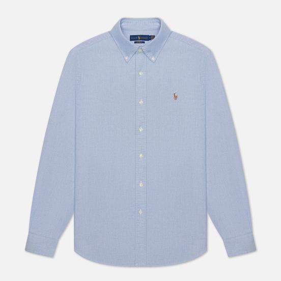 Мужская рубашка Polo Ralph Lauren Classic Oxford Custom Fit Blue