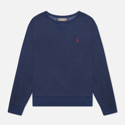 Мужская толстовка Polo Ralph Lauren Garment Dyed Fleece Cruise Navy