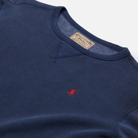 Мужская толстовка Polo Ralph Lauren Garment Dyed Fleece Cruise Navy