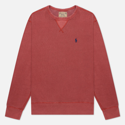 Мужская толстовка Polo Ralph Lauren Garment Dyed Fleece Red Brick