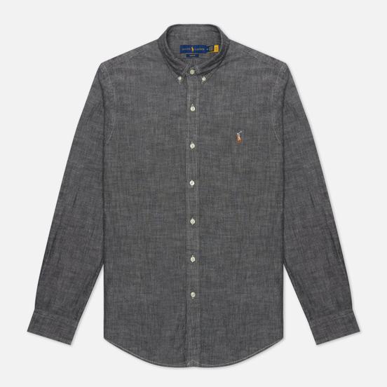 Мужская рубашка Polo Ralph Lauren Slim Fit Chambray Light Grey
