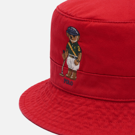 Панама Polo Ralph Lauren Riding Bear Twill Red