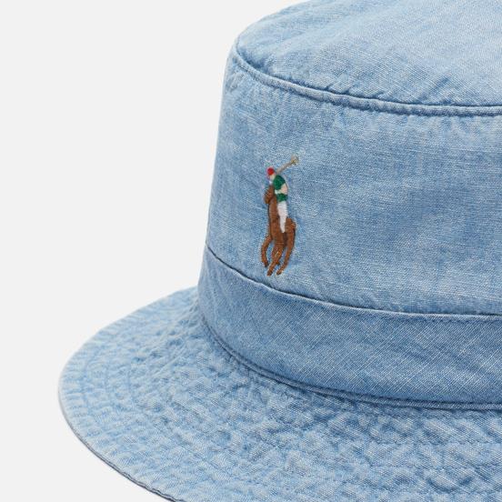 Панама Polo Ralph Lauren Multicolored Pony Logo Blue Chambray