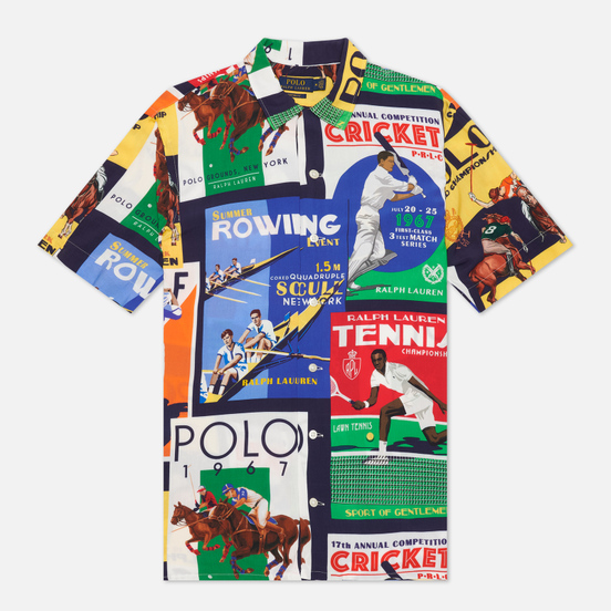 Мужская рубашка Polo Ralph Lauren Clubhouse Collage Vacation Multicolor