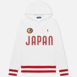 Мужская толстовка Polo Ralph Lauren The Japan Hoodie Vintage Fleece White