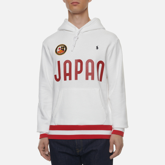 Мужская толстовка Polo Ralph Lauren The Japan Hoodie Vintage Fleece White
