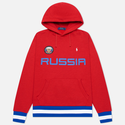 Мужская толстовка Polo Ralph Lauren The Russia Hoodie Vintage Fleece Red