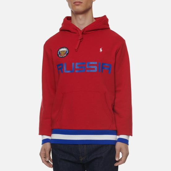 Мужская толстовка Polo Ralph Lauren The Russia Hoodie Vintage Fleece Red