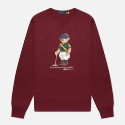Мужская толстовка Polo Ralph Lauren Riding Bear Magic Fleece Classic Wine