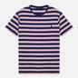 Мужская футболка Polo Ralph Lauren Custom Slim Fit Striped Boathouse Navy/Garden Pink фото - 0