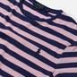 Мужская футболка Polo Ralph Lauren Custom Slim Fit Striped Boathouse Navy/Garden Pink фото - 1