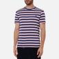Мужская футболка Polo Ralph Lauren Custom Slim Fit Striped Boathouse Navy/Garden Pink фото - 2
