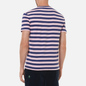 Мужская футболка Polo Ralph Lauren Custom Slim Fit Striped Boathouse Navy/Garden Pink фото - 3