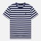 Мужская футболка Polo Ralph Lauren Custom Slim Fit Striped Boathouse Navy/White фото - 0