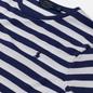 Мужская футболка Polo Ralph Lauren Custom Slim Fit Striped Boathouse Navy/White фото - 1