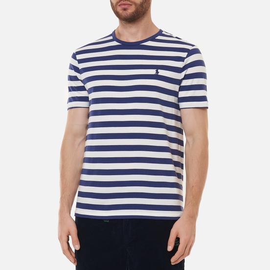 Мужская футболка Polo Ralph Lauren Custom Slim Fit Striped Boathouse Navy/White