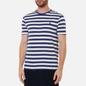 Мужская футболка Polo Ralph Lauren Custom Slim Fit Striped Boathouse Navy/White фото - 2