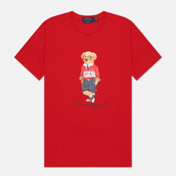 Мужская футболка Polo Ralph Lauren Polo Bear Custom Slim Fit Red