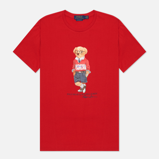 Мужская футболка Polo Ralph Lauren Polo Bear Custom Slim Fit Red