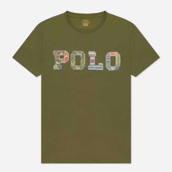 Мужская футболка Polo Ralph Lauren Logo Polo Madras Floral Dark Sage