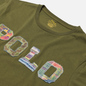 Мужская футболка Polo Ralph Lauren Logo Polo Madras Floral Dark Sage фото - 1