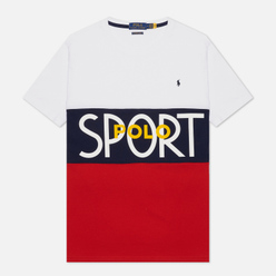 Мужская футболка Polo Ralph Lauren Polo Sport Custom Slim Fit White