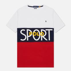 Мужская футболка Polo Ralph Lauren Polo Sport Custom Slim Fit White